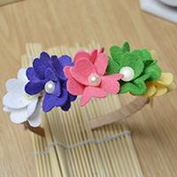 Tutorial on Making Cute Flower Baby Headbands with Buttons