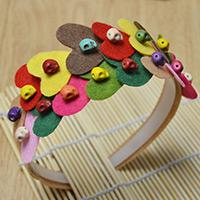 Step by Step Instructions on Making a Colorful Heart Headband for Little Girls
