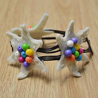 Special Idea on Making a Starfish Leather Bracelet with Acrylic Beads