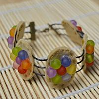 How to Make a Chips Ahoy Cookie Bracelet with Leather Cord for Cute Girls