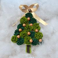 Easy to Make Lifelike Christmas Tree Decorations with Pearl Beads