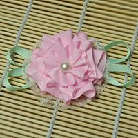 How to Make a Light Pink Ribbon Rose Brooch in a New Way