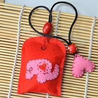 Cute Design for Making a Red Hanging Sachet Bag