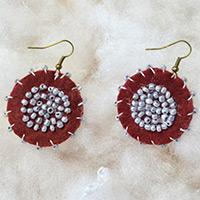 How to Make Dangle Earrings with Seed Beads in Ethnic Style