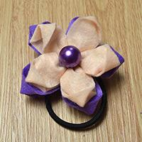 How to Make Two-Tone Orchid Flower Hair Ties with Beads