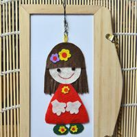 DIY a Cute Cartoon Girl Hanging Decoration with Felt and Beads