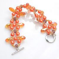 New Idea about Making Thorny Orange Beaded Bracelet