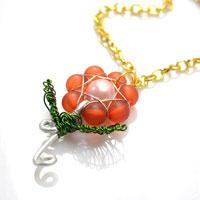 Tutorial - Make a Delicate Rose Flower Pendant with Beads and Wire