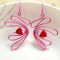 How to Make WigJig Swan Earrings Step by Step with Wire and Pliers Only