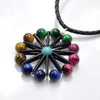 How to Make Lucky Ferris Wheel Pendant Necklace with Tiger Eye Beads