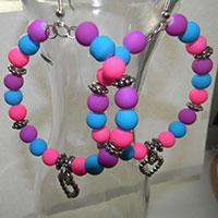 How to Make Colored Beaded Hoop Earrings for Women