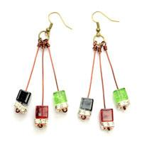 Easy Instructions on Making Dangle Earrings with Beads and Leftover Wire