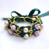 Valentine Day Gift Idea on Making a Multi Strand Bracelet with Pearls and Porcelain Flowers
