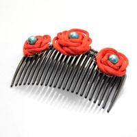 Step-by-step Instructions on Decorating Hair Combs with Handmade Knot Roses