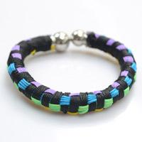 Multi-Color Block Friendship Bangle Bracelet Design Instructions