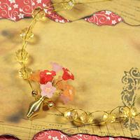 How to Make a Delicate Bouquet of Flower Pendant Necklace with Acylic Beads