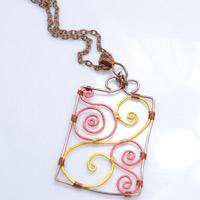 Instructions on Wire Wrapping a Pendant in Chinese Wood Carving Pattern