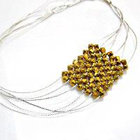 Make Your Own Diamond-shaped Pendant Necklace with Right Angle Weave Stitch