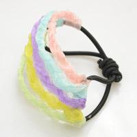Making a Multi Strand Stretch Bracelet with Multi-Colored Ribbons