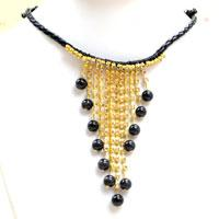 4 Steps to Make a Vintage Choker Necklace with Cat Eye Beads and Rhinestone Chain