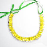 Free Seed Bead Jewelry Tutorials-Make Your Own Statement Easter Necklace