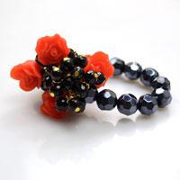 Promised Tutorial on Making a Cluster Bracelet with Glass Beads and Elastic Cord