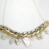 3 Steps to Make Tibetan Style Statement Necklace with Chunky Chain