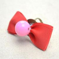 Easy Tutorial on Making a Candy Colored Ribbon Bow Ring