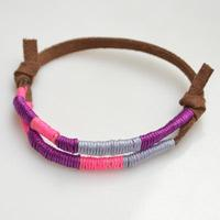 How to Make a Wrapped Friendship Bracelet with Colorful Nylon Threads