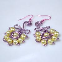 Wire Wrapped Design--How to Make Earrings with Pearl Beads and Wire