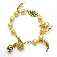 Wedding Jewelry Idea-Making Pure Pearl Bracelet with Charms