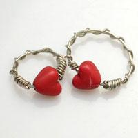 How to Make Eternity Love Couple Rings with Wire and Heart Beads