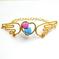 Unique Bracelet Designs-Making Angel Wings Bracelet with Acrylic Beads and Wires