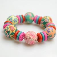 How to Make a Stretch Bracelet with Polymer Clay and Turquoise Beads