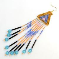 Patterns on Making Native American Brick Stitch Earrings with Seed Beads