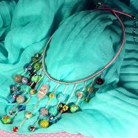 How to Make Pastel-colored Beaded Fringe Necklace out of Lampwork Beads