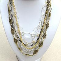 Cool Jewelry Idea on How to Make a Long Multi Strand Chain Necklace