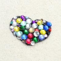 Glittering Crafts on Making DIY Heart Shaped Rhinestone Brooch