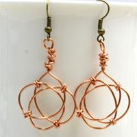 Inspired Jewelry Designs Making Celtic Knot Earrings With Copper Wire For Women