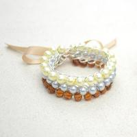 Mother's Day Jewelry Gifts on Making a 3-strand Pearl and Ribbon Bracelet