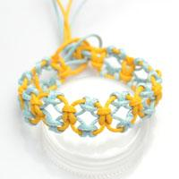 How to Knit a Friendship Bracelet with Lark's Head Knots