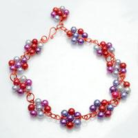 Jewelry Gift Idea- Stringing Delicate Flower Pearl Necklace with Wire