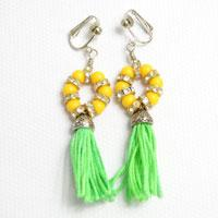 Fashion Jewelry Designs- Making Tassel Drop Earrings with Beads and Nylon Thread