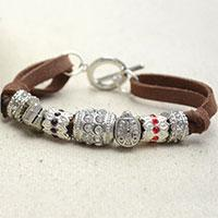 How to Make a Personalized Suede Cord Bracelet with Pandora Style Beads