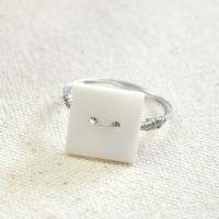 Easy DIY Tutorial on Making Handmade Square Button Ring within 10 Minutes