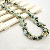 Free Tutorial on How to Make a Multi Strand Woven Chain Necklace with Ribbons