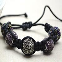 How Do I Make a Cool Shamballa Style Bracelet with Indonesia Beads and Nylon Threads