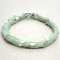 How to Make Floral Fabric Wrapped Bangle with Wire in 3 Steps