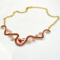 New Way in Making Heart Shaped Wire Wrapped Necklace