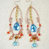 Making Gorgeous Vintage Style Dangle Earrings with Wire and Beads
